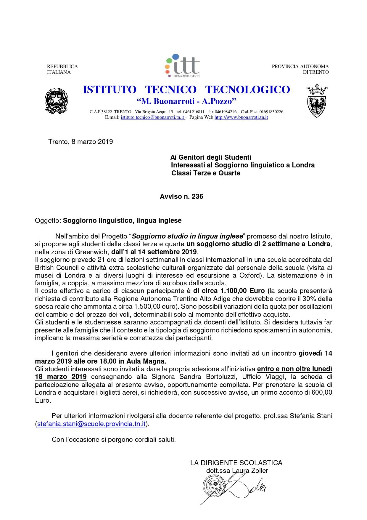 ITT M. Buonarroti - Soggiorno linguistico lingua inglese ...